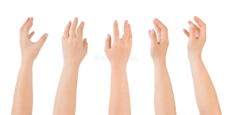 Vijf Handen stock afbeeldingen