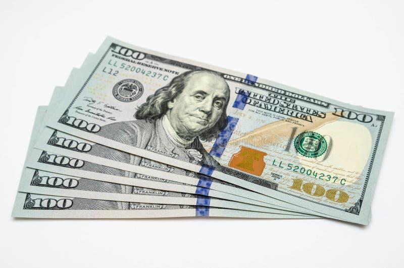 Vijf honderd dollars van de V.S. stock foto