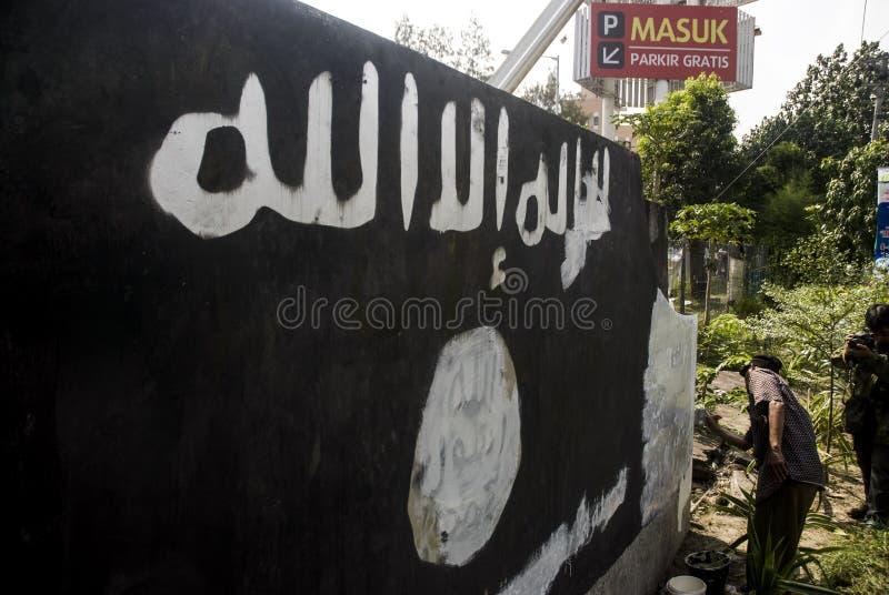 VIJF HONDERD INDONESIËRS SLUITEN ZICH AAN BIJ ISIS royalty-vrije stock foto