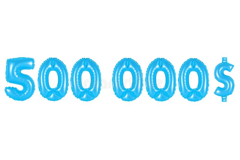 Vijf honderdduizendendollars, blauwe kleur royalty-vrije stock afbeelding