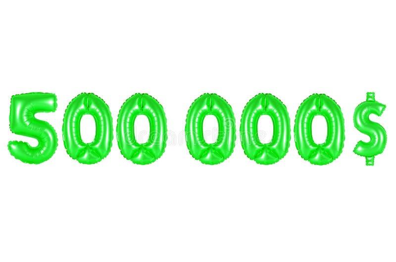 Vijf honderdduizendendollars, groene kleur stock foto's