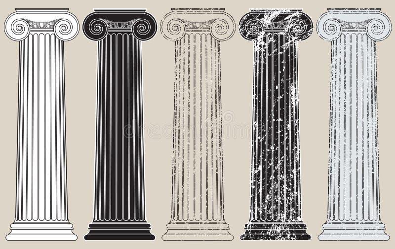 Vijf Kolommen stock illustratie