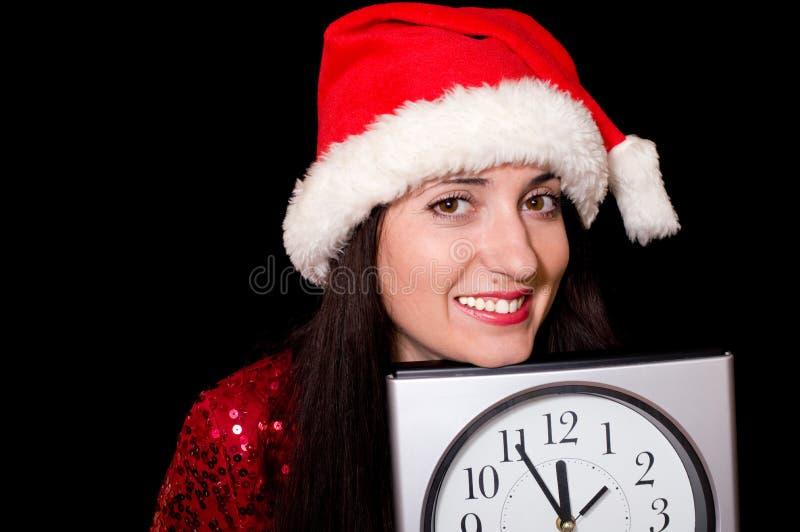 Vijf minuten tot Nieuwjaar stock foto's