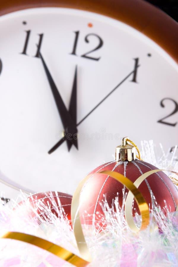 Vijf minuten vóór het nieuwe jaar stock foto's