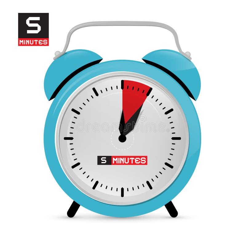 Vijf 5 Minuten Wekker vector illustratie