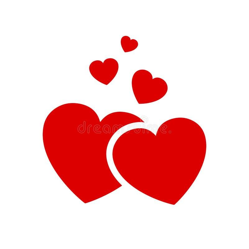 Vijf mooie harten - vector vector illustratie