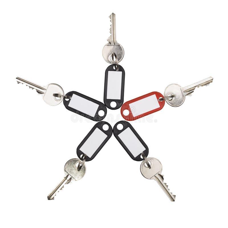 Vijf sleutels stock afbeelding