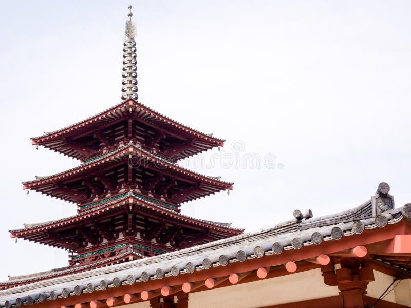 Vijf verhaal boeddhistische pagode royalty-vrije stock afbeeldingen