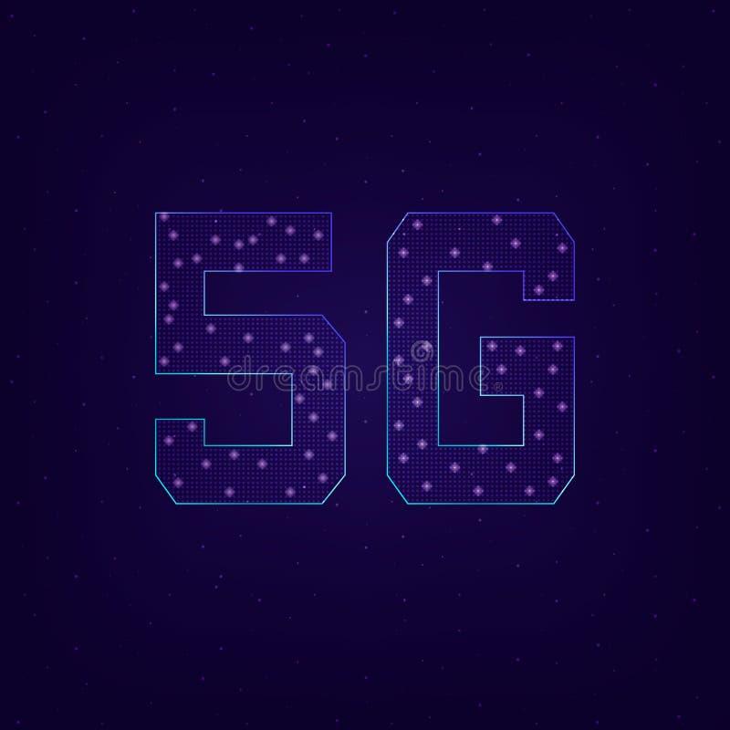 Vijfde generatie draadloze 5G stock illustratie