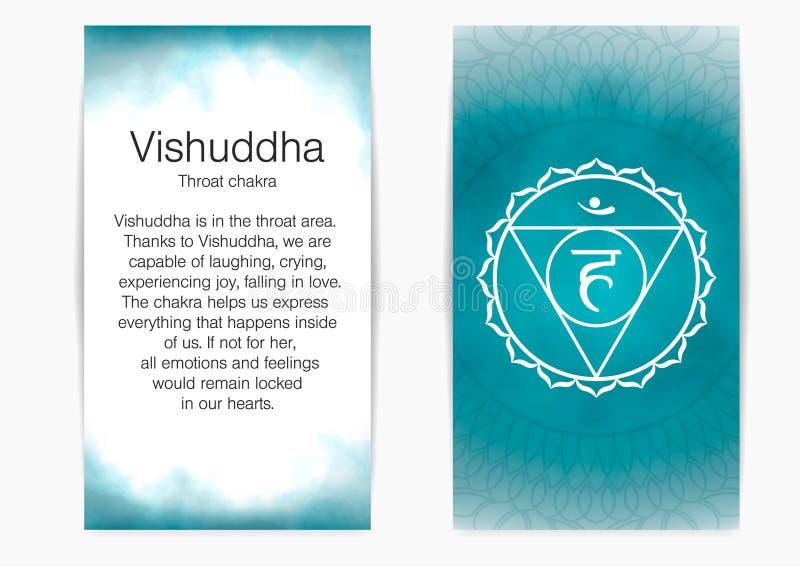 Vijfde, keelchakra - Vishuddha royalty-vrije illustratie