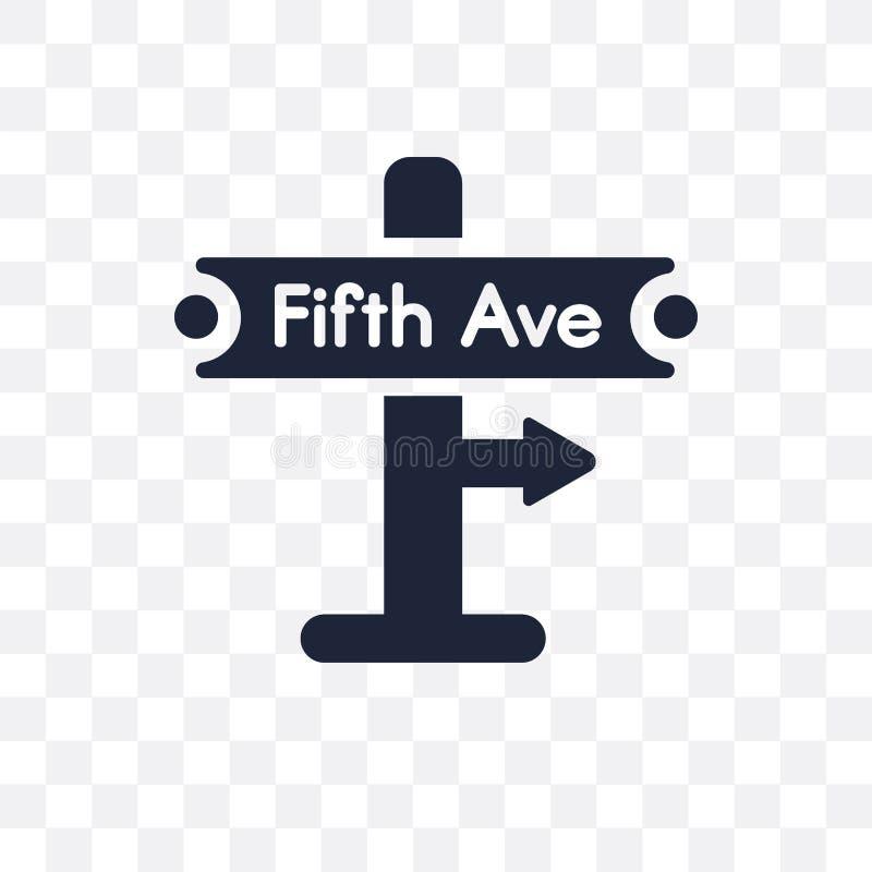 Vijfde weg transparant pictogram Het vijfde ontwerp van het wegsymbool van U royalty-vrije illustratie
