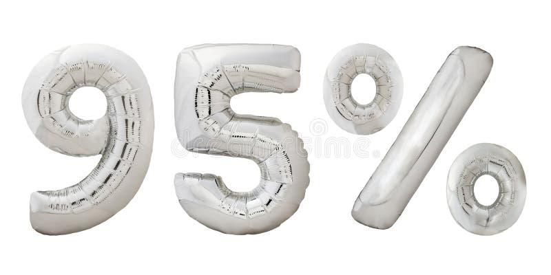 Vijfennegentig percenten verchromen metaalballons royalty-vrije stock fotografie