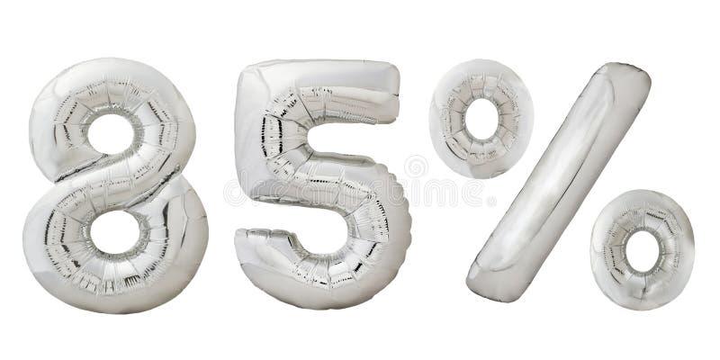 Vijfentachtig percenten verchromen metaalballons stock afbeeldingen