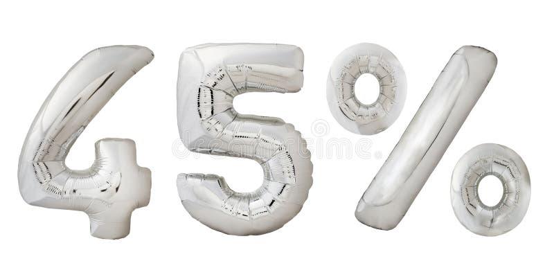 Vijfenveertig percenten verchromen metaalballons stock fotografie