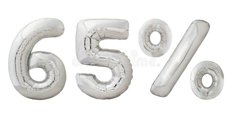 Vijfenzestig percenten verchromen metaalballons royalty-vrije stock fotografie