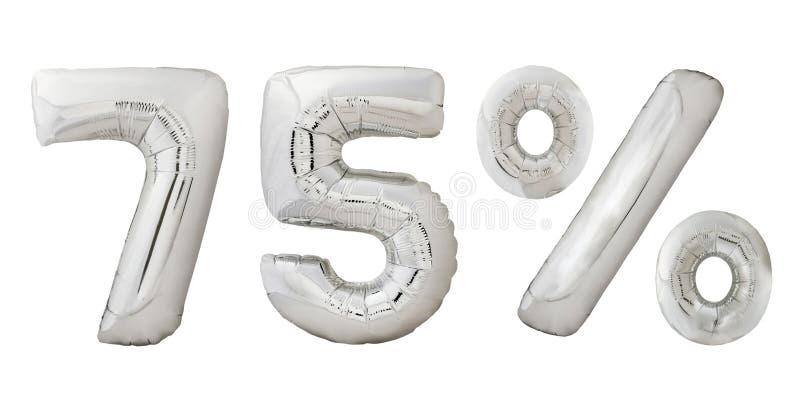 Vijfenzeventig percenten verchromen metaalballons stock fotografie