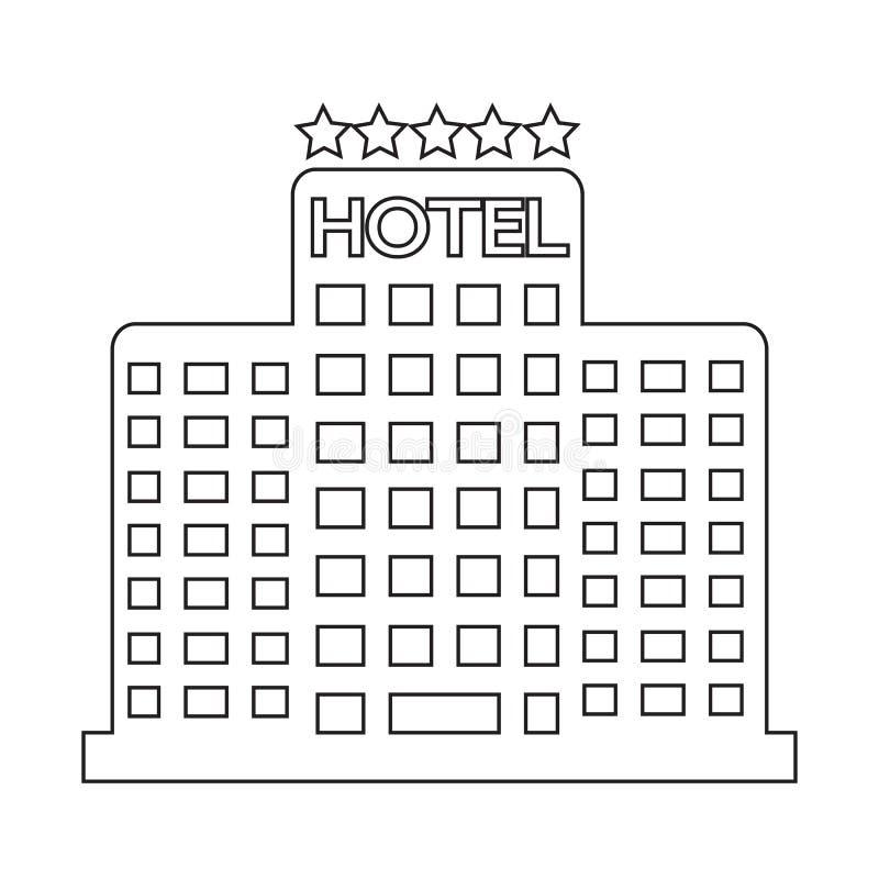 Vijfsterrenhotelpictogram vector illustratie