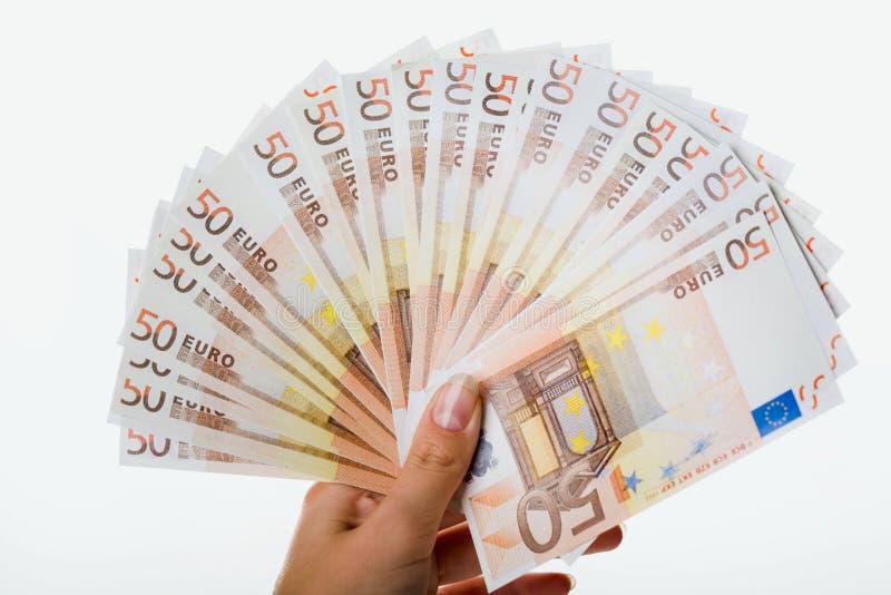Vijftig euro stock afbeeldingen