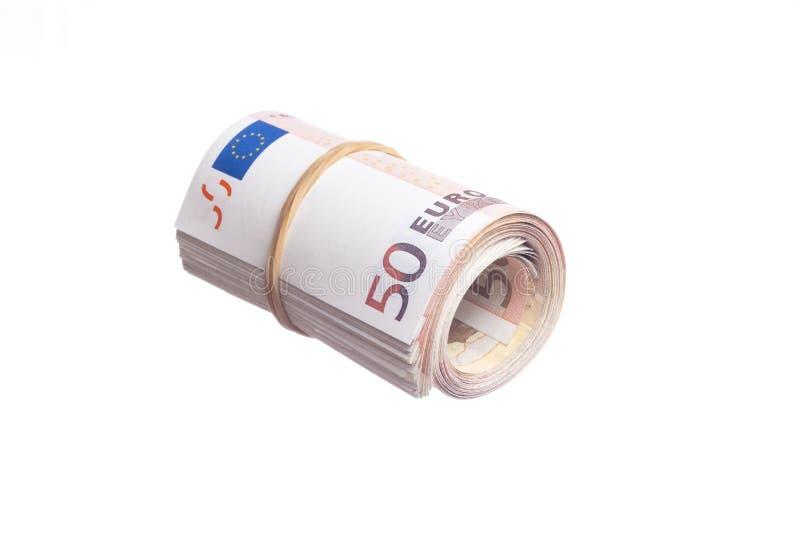 Vijftig euro stock fotografie