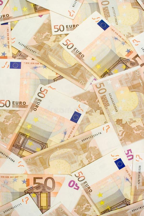 Vijftig Euro Bankbiljetten royalty-vrije stock fotografie