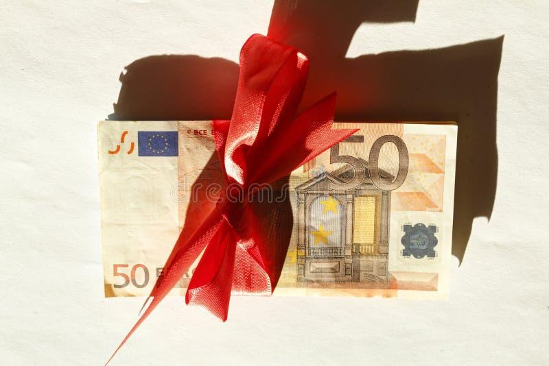 Vijftig Euros Banknote stock afbeeldingen