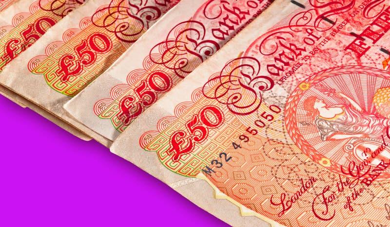 Vijftig pond Sterling Britse Munt royalty-vrije stock foto's