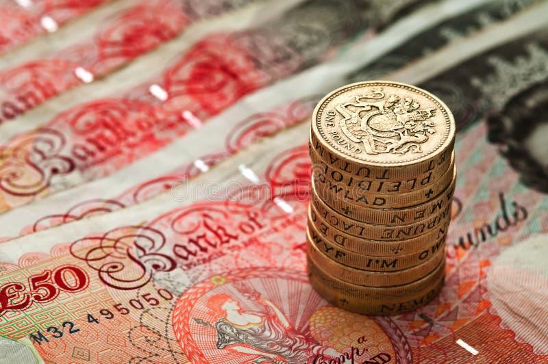 Vijftig pond Sterling een muntstukstapel - Britse Munt