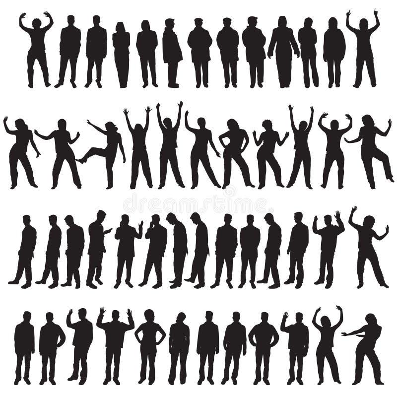 Vijftig verschillende mensen stock illustratie