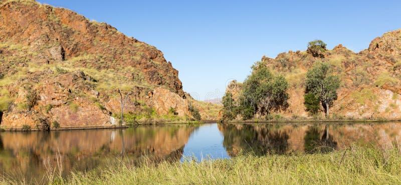 Vijver bij rand van Meer Argyle Western Australi stock foto's