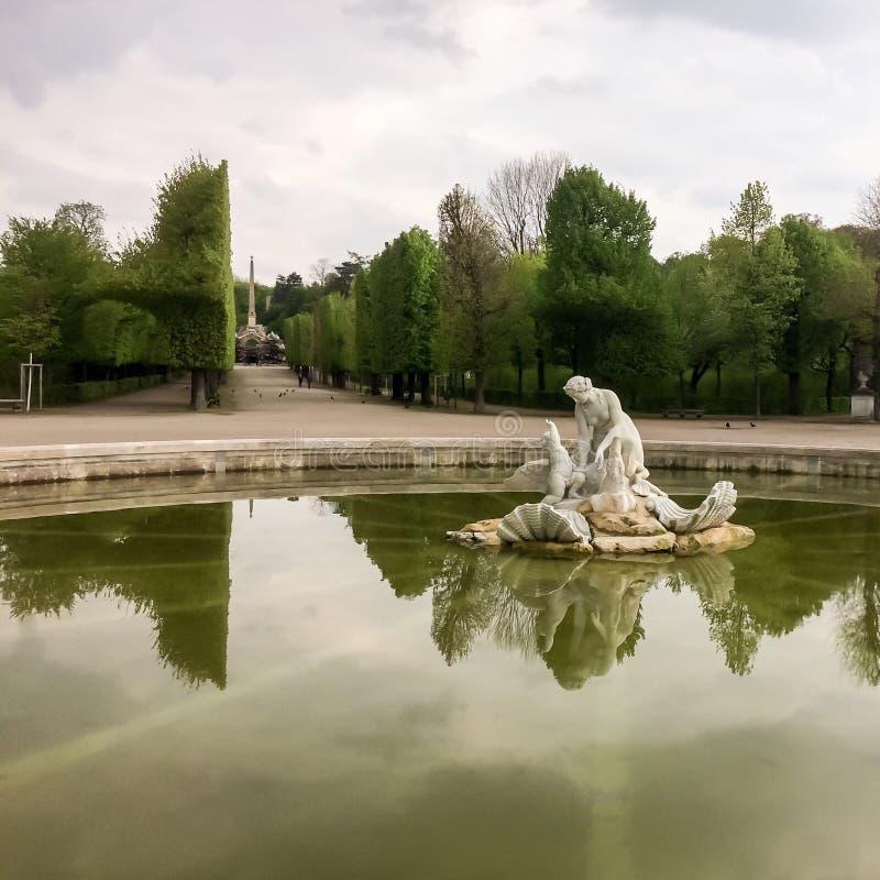 Vijver in het park royalty-vrije stock afbeelding