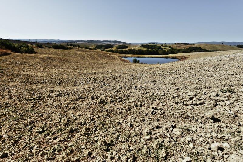 Vijver voor irrigatie in Italië royalty-vrije stock fotografie