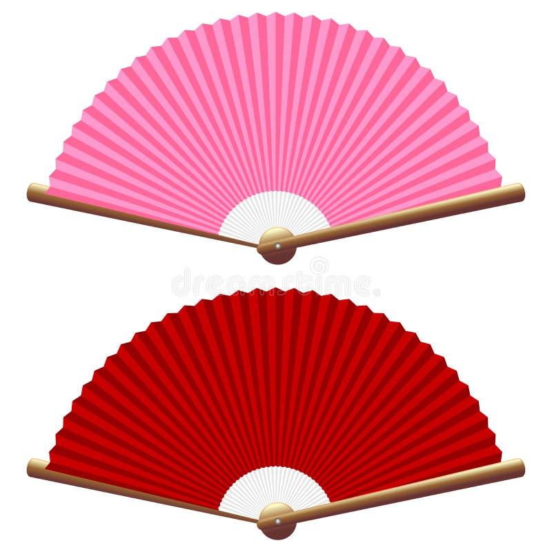 vika för ventilatorer stock illustrationer