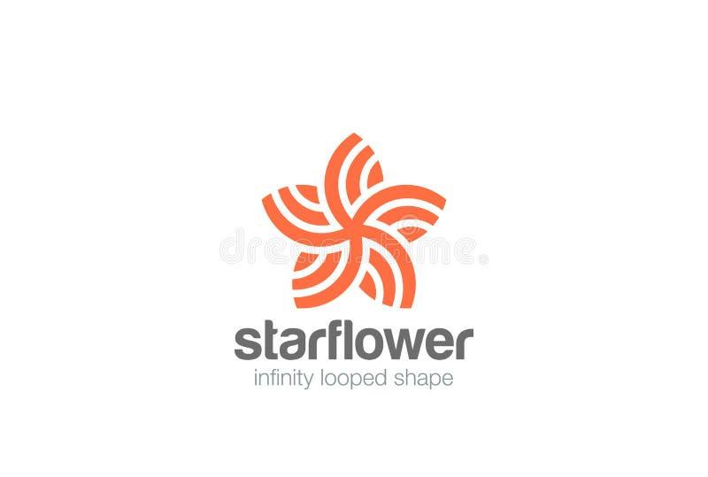 Vikarier för vektor för design för logo för form för stjärnablommaabstrakt begrepp royaltyfri illustrationer