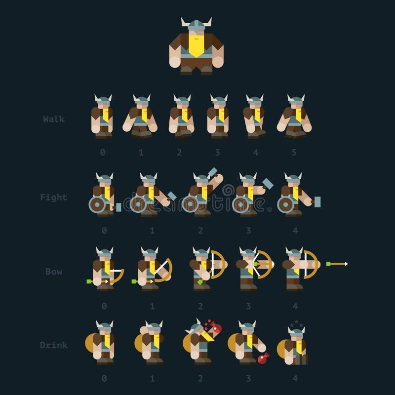 viking Étapes pour l'animation illustration libre de droits
