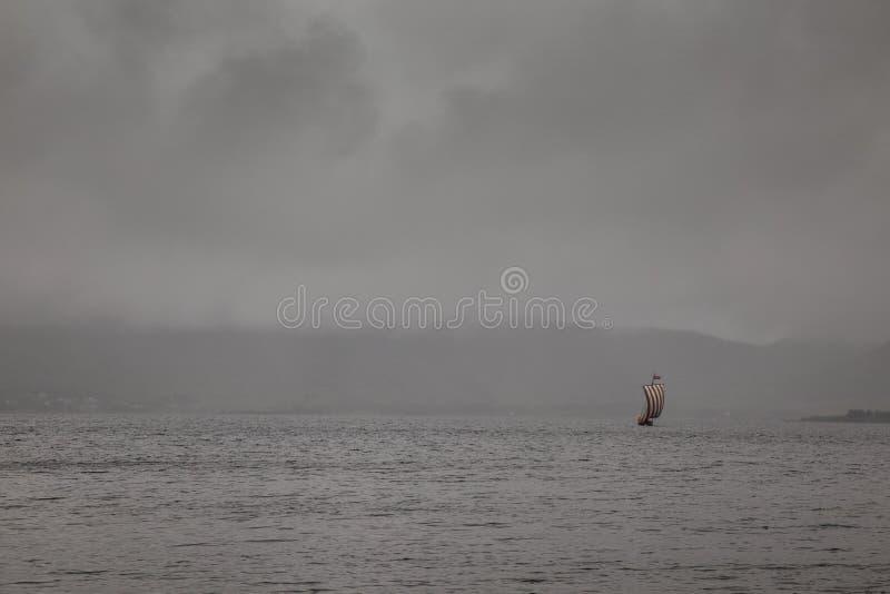 Viking łódź zdjęcie royalty free