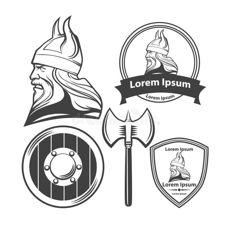 viking vektor illustrationer