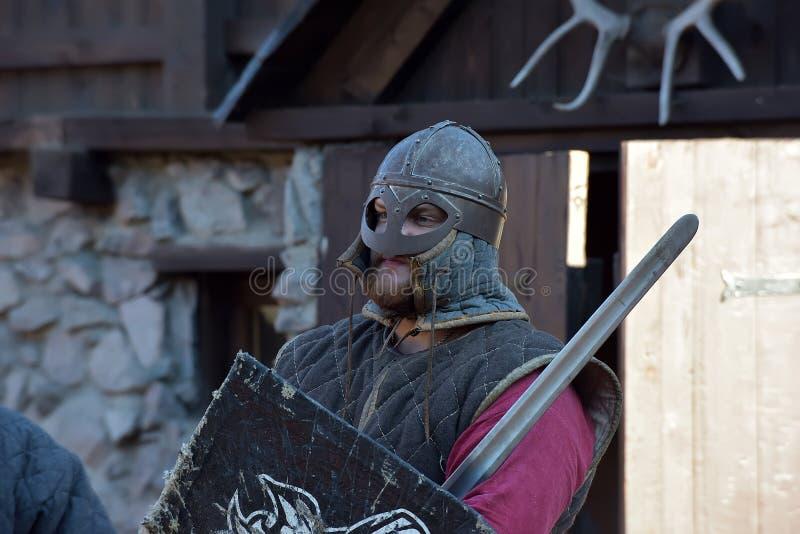 Viking acorazado fotos de archivo libres de regalías