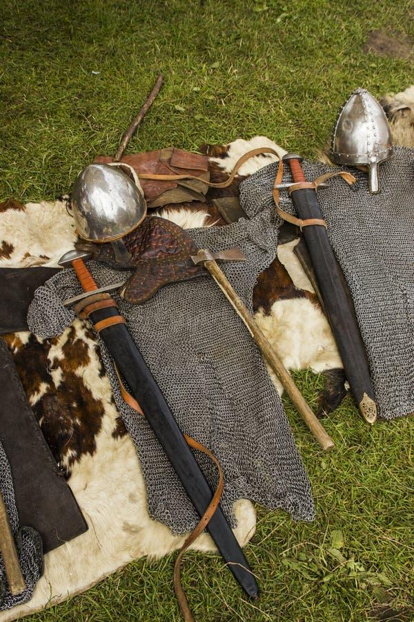 Viking armor fotografering för bildbyråer