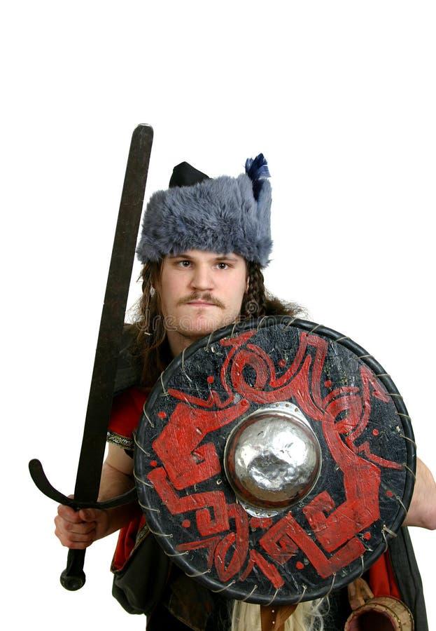 Viking avec une épée images libres de droits
