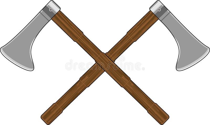 Viking Axes cruzado libre illustration