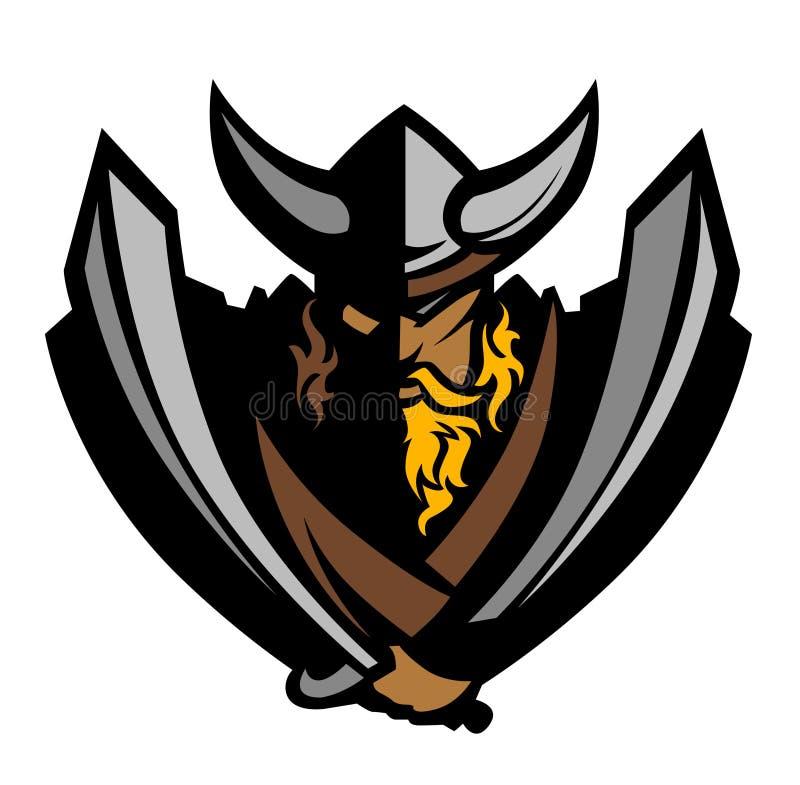 Viking / Barbarian Mascot Vector Logo. Vector Image of Viking / Barbarian Mascot Logo vector illustration