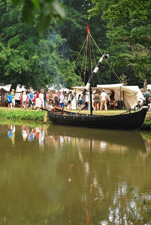 Viking boat royalty free stock images