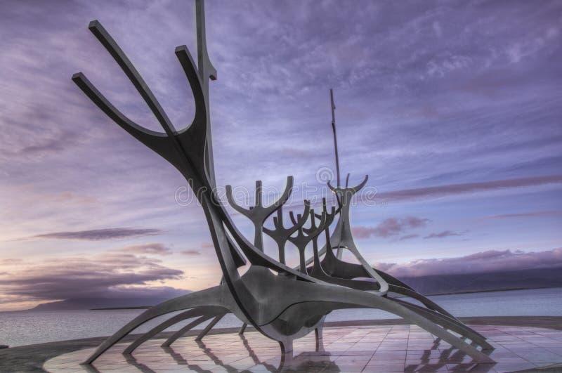 Viking Boat Solfarid, Reykjavik, Islande photo stock