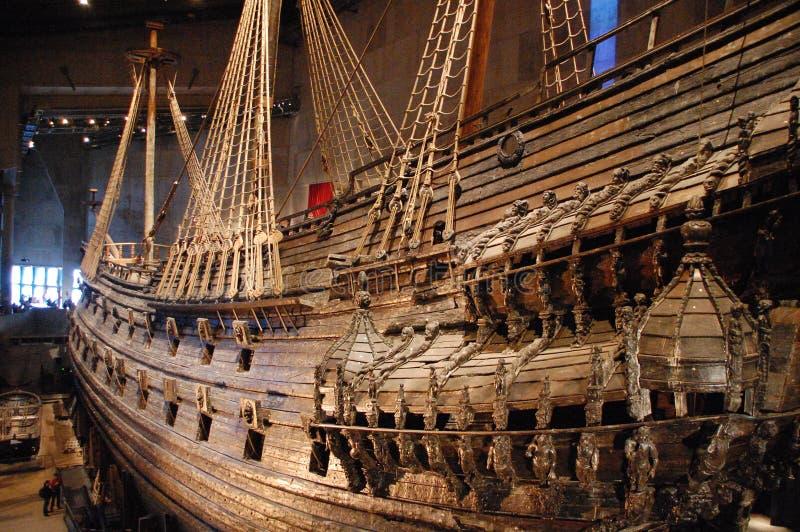 Viking-boot in Vasamuseet royalty-vrije stock foto's