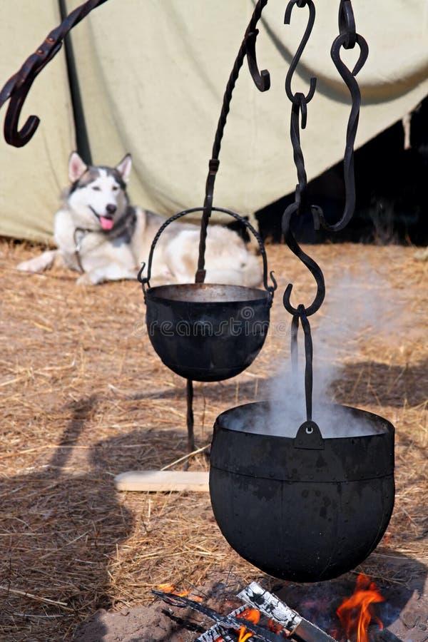 Download Viking camp stock image. Image of boil, metal, firewood - 23628137