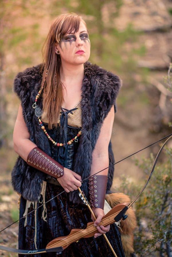 Viking Character féminin images stock