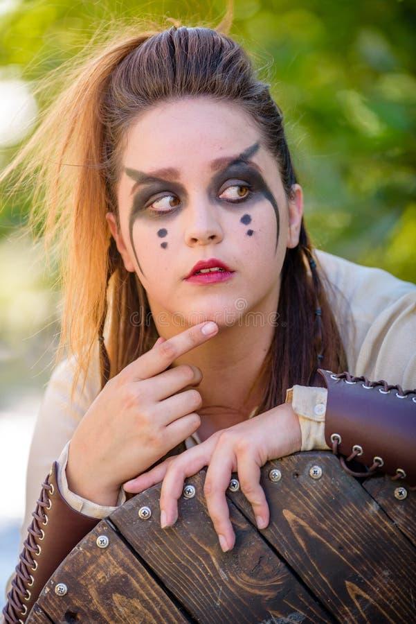 Viking Character fêmea imagem de stock