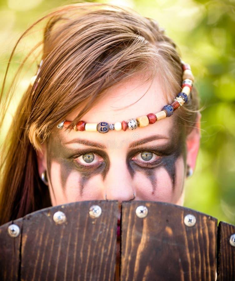 Viking Character fêmea fotografia de stock
