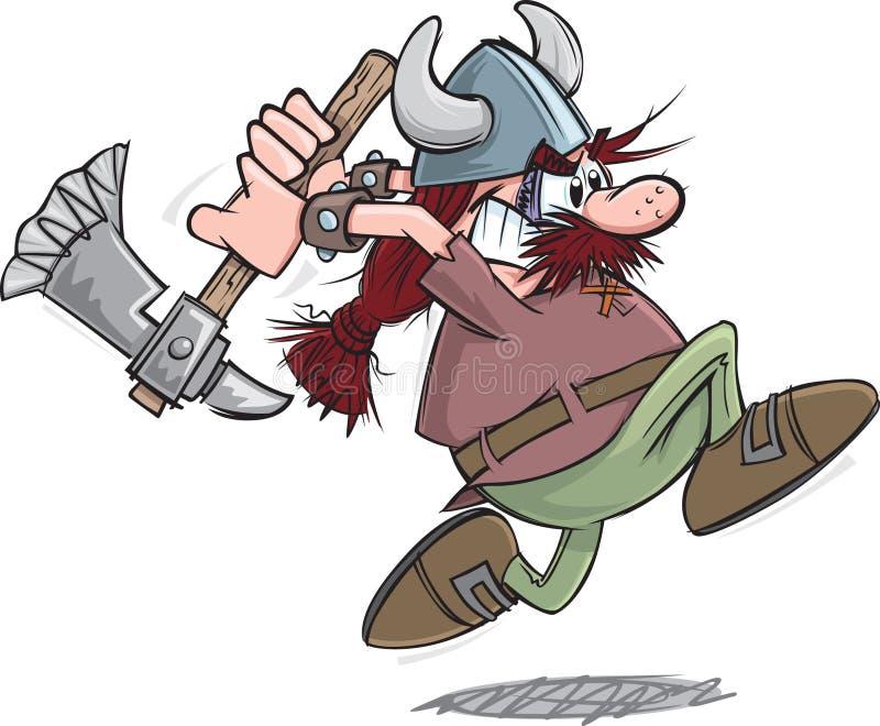 Viking Charge royaltyfri illustrationer