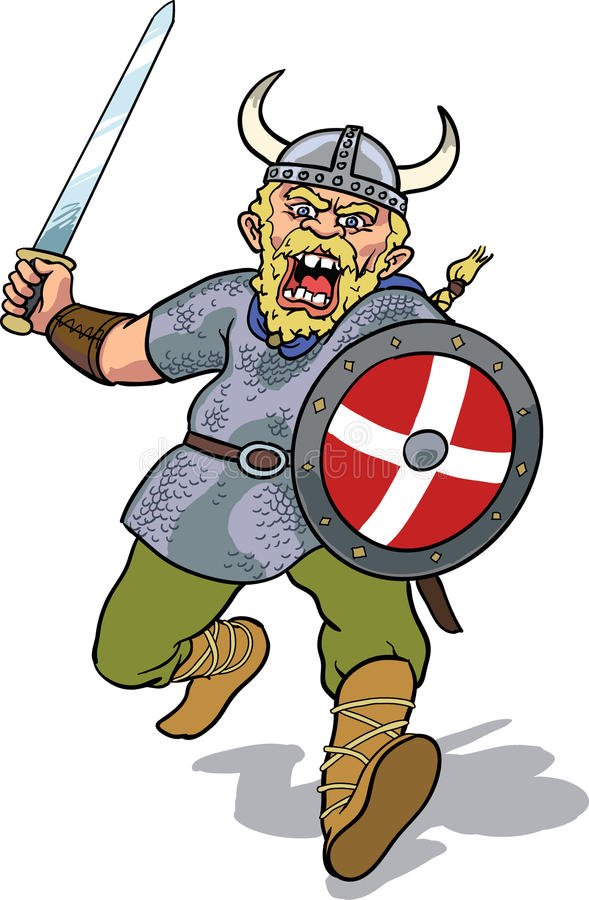 Viking charging stock images